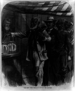 """The first vote"" Drawn by A.W. Waud"