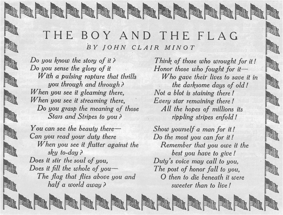 """called """"The Boy and the Flag"""" by John Clair Minot"""