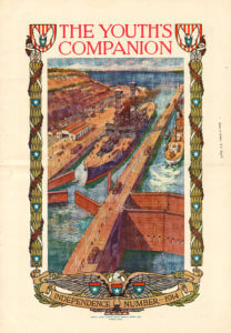 Youth's Companion cover from 1914, Panama Canal.