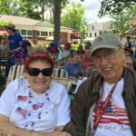 Maryanne and George Datesman at a July 4th Celebration