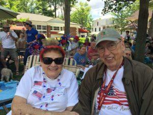 Maryanne and George Datesman at July 4th, 2017 Chautauqua Celebrations