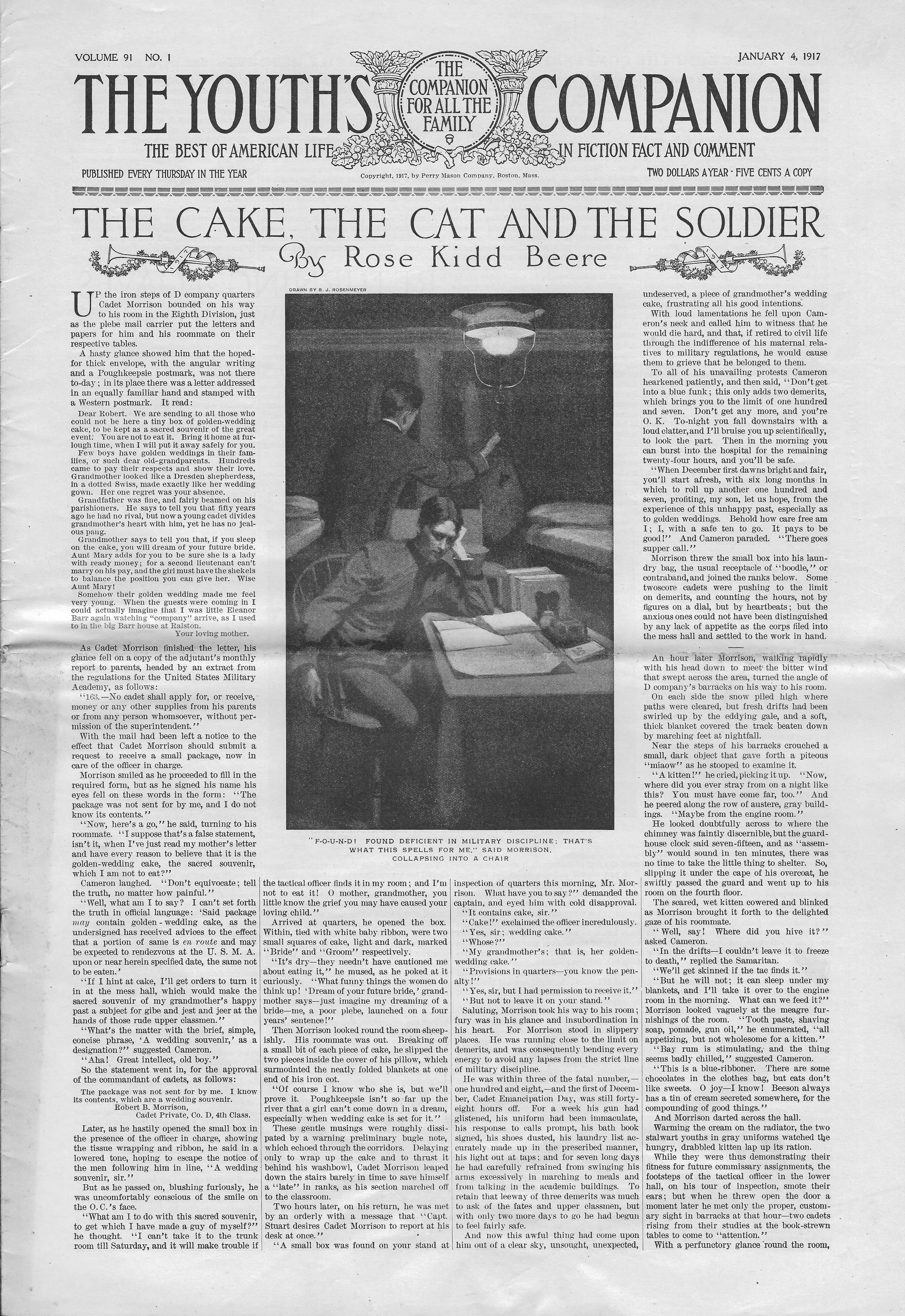 The Youth's Companion - January 04, 1917 - Page 1