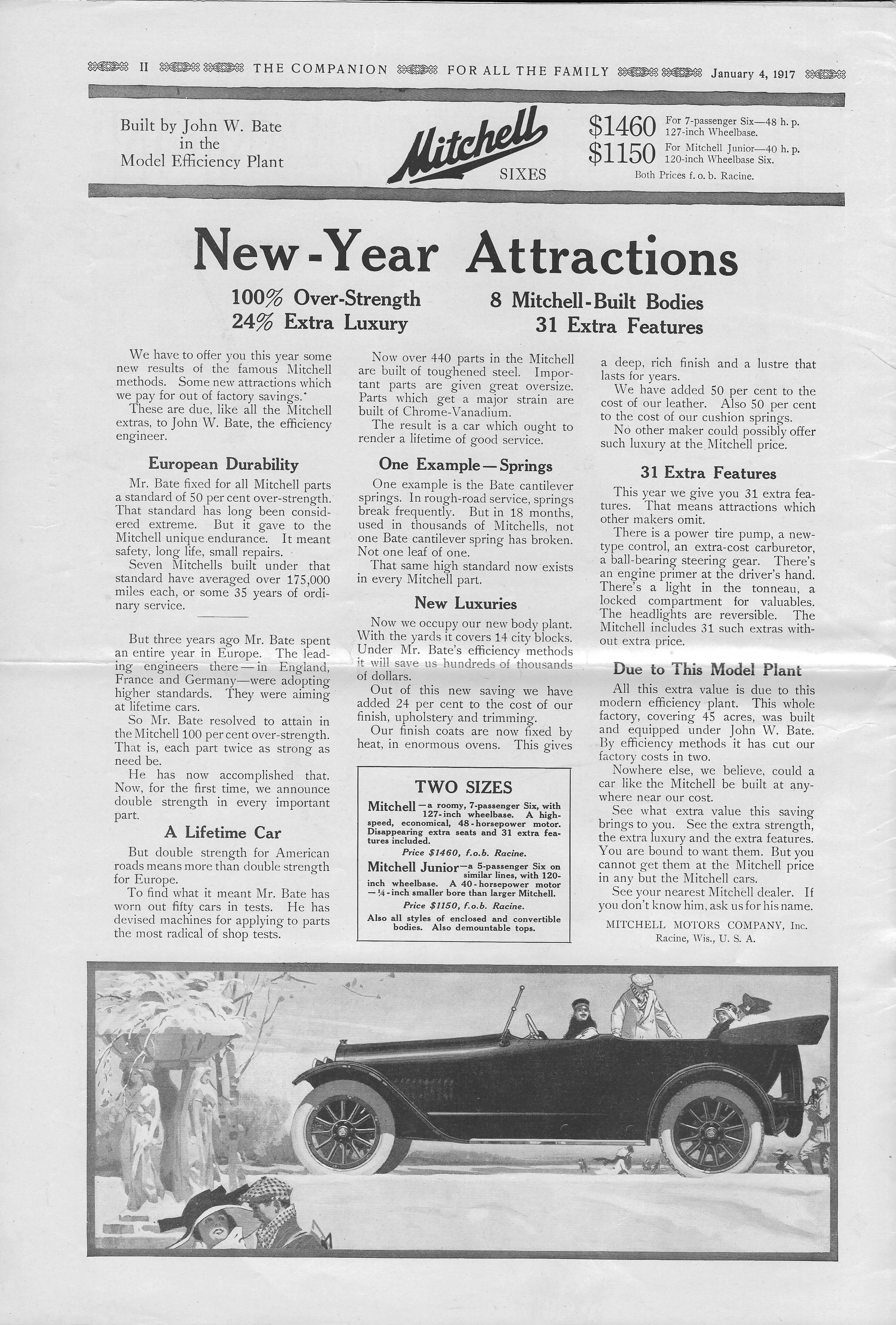 The Youth's Companion - January 04, 1917 - Page - Inside Front Cover