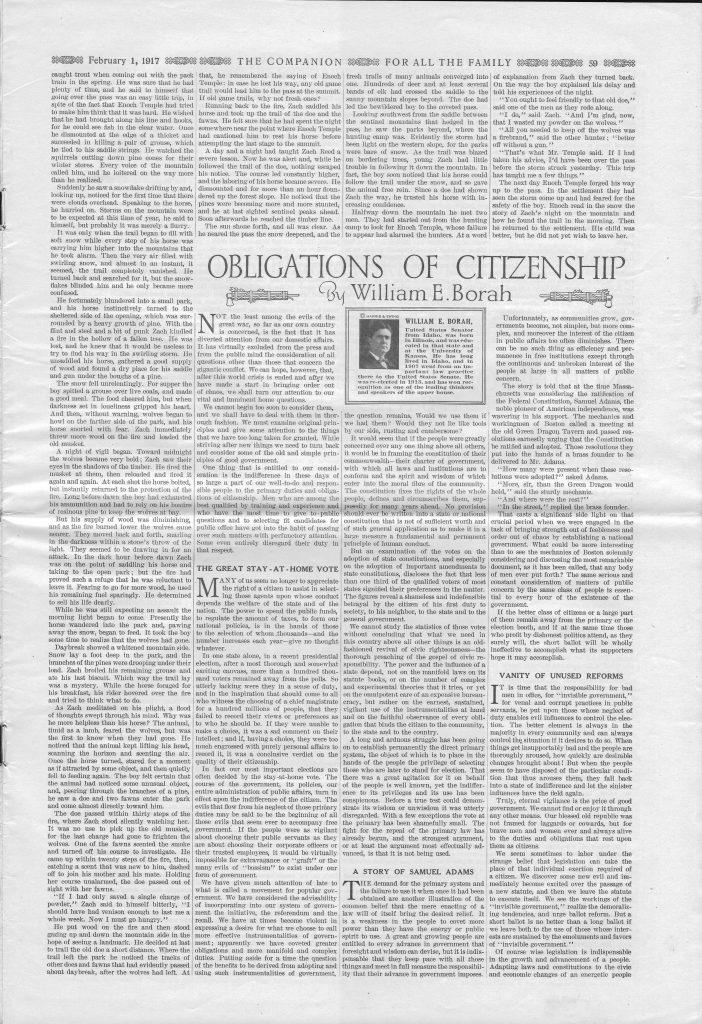 <em>The Youth's Companion</em> - February 1, 1917 - Page 59