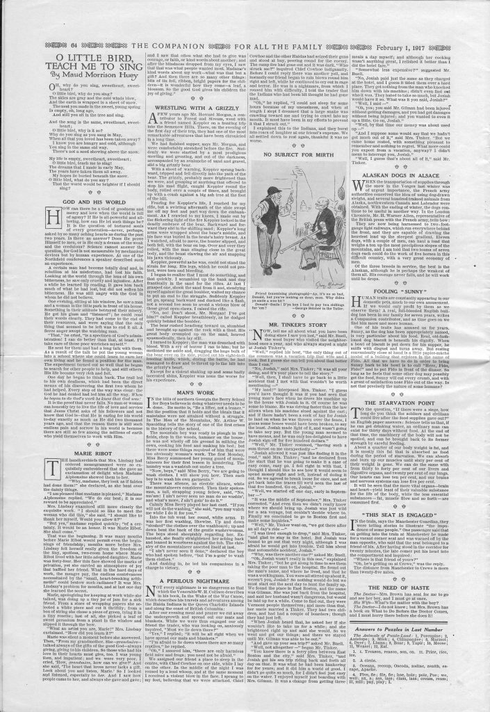 <em>The Youth's Companion</em> - February 1, 1917 - Page 64